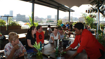 Rooftop restaurants in Maboneng