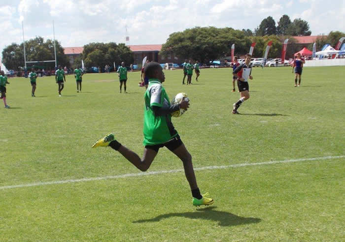 Soweto Jabulani Tec Rugby Player scoring a try