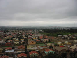 A view of Soweto from the top of the Oppenheimer tower